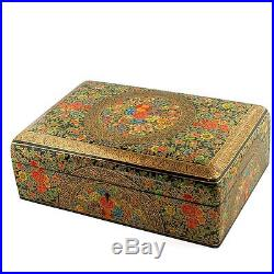10'' X 7 Asian Mountain Flowers Oriental Wooden Jewelry Box