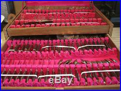 144 Piece Flatware Set from Bangkok Thailand with Wood Box, Mings Jewelry