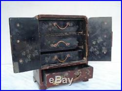 1850s IMPERIAL CHINA ANTIQUE WOODEN JEWELRY BOX