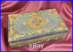 1905 Art Nouveau Secession Hand Engraved Wooden Jewelry Trinket Box