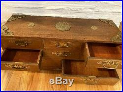 1960's Wooden Japanese Tansu Chest 8-drawer jewelry box Stunning