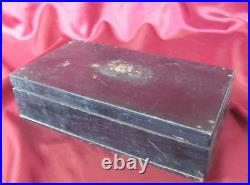 19C ANTIQUE IMPERIAL RUSSIA HAND PAINTED WOODEN JEWELRY BOX withRASPUTIN IMAGE