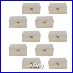 20 Unfinished Wood Treasure Chest Boxes for Children DIY Wooden Craft