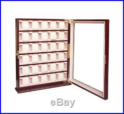 30 Wood Watch Display Stand Wall Collector Jewelry Case Storage Box 110030