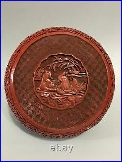 6 Chinese antique Lacquer ware wooden handcarved Mandarin Duck Jewelry box