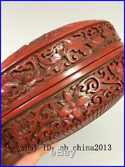 6 Qianlong China Lacquer ware wooden handcarved mountain pine tree Jewelry box