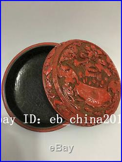 7 Qianlong China antique Lacquer ware wooden handcarved Cornucopia Jewelry box
