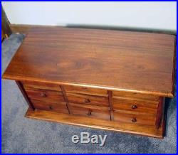 9 Drawer Apothecary Spice/Jewelry Chest Wood New