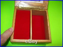 ANRI Vintage Gnome 3-D Wooden Music Jewelry Box Lift Lid To Play Edelweiss Song