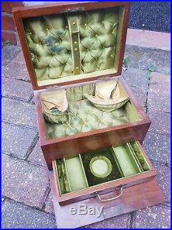 ANTIQUE WOODEN JEWELRY BOX WITH DRAWER for restoration