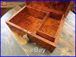 A Burr Camphor Wood Jewellery Box, Beautiful. Perfect Condition. Great Gift