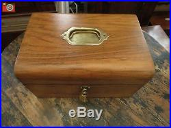 A Charming Light Oak Victorian Box, Lovely Colour. Jewellery, Trinkets Etc