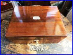A Charming Oak Victorian Box, Great Colour. Jewellery, Trinkets Etc