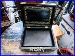 A Good Quality Victorian Jewellery Box. Lovely Condition. Dark Mahogany