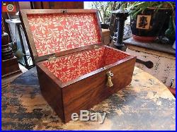 A LOVELY EARLY VICTORIAN ROSEWOOD BOX, JEWELLERY, DOCUMENTS, MEDALS etc