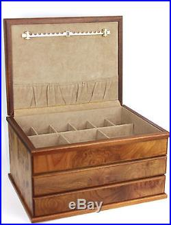 Agresti Briarwood 2 Drawer Jewelry Chest Box, Made in Italy
