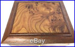 Agresti Italian Jewelry Chest Box Case Burl Briarwood 5 Drawer Suede Lined
