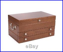 American Chest First Lady Heritage Cherry Finish Jewelry Box Storage Case New