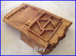 American Craft Live Edge Burl Wood Jewelry Box By Michael Elkan Large+Fabulous