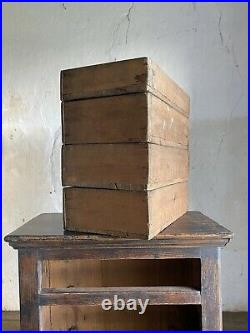 Antique French Miniature Wooden Chest of Drawers Apprentice Piece Late 19thC