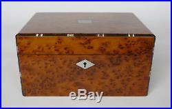 Antique French Thuya Burr & Inlay Jewellery Box