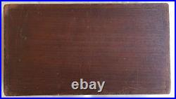 Antique Hinged Wooden Mens Dresser Jewelry Box