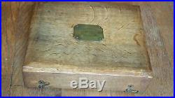 Antique Imperial Russian Wooden Jewelry Presentation box by Morozov