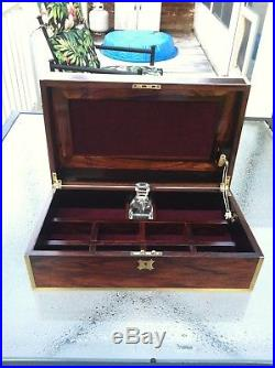 Antique Inlayed Rosewood Jewelry Box