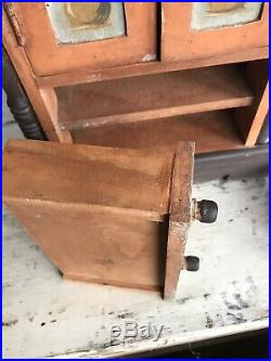 Antique Jewelry Cabinet Vanity Chest Wooden Drawers Small
