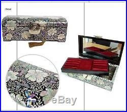 Antique Korean Mother-of-Pearl Dome Jewelry box armoire organizer Handmade gifts