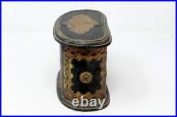 Antique Old Brass Cut Design Floral Work Wooden Chest Box 2 Drawer jewelry Box