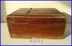 Antique Old Wooden Hand Carved Beautiful Mercant Money Collecting jewelry Box