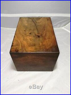 Antique Small Wooden Box with Drawer Mahogany Jewellery Box 11 x 7 VGC