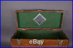 Antique Vintage Oak Wood 7 Drawer Machinist Chest Jewelry Tool Box Wooden