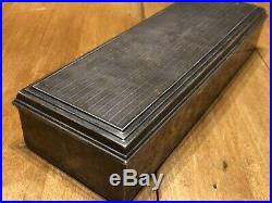Antique Vtg Webster Company 925 Sterling Wooden Jewelry Tobacco Cigarette Box