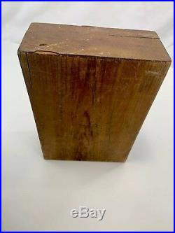 Antique Wood Wooden Marquetry Document Jewelry Sewing Work Box Vintage No Keys