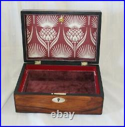 Antique Wooden Jewellery Box Victorian Rosewood Box