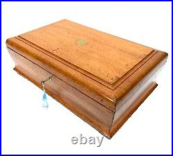 Antique Wooden Oak Collectors Box / Jewellery Chest / Cabinet / Tabletop Storage