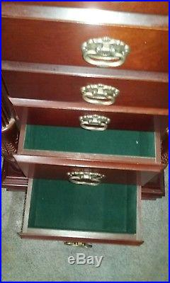Ar moire/jewelry box floor standing wood cherry finish