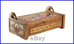 Armenian traditional jewelry box Wooden sculpture Jewelry hand painted handmade