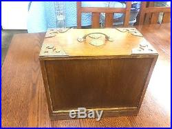 Beautiful Vintage Mid Century Wooden Brass Hardware Jewelry Boxes 3 L@@K