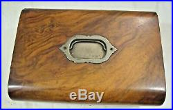 Beautiful Wooden Sewing Kit or Jewelry Box withKey