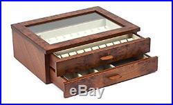 Bello Collezioni Gianluca Luxury Briar Wood Case Cufflink and Jewelry Box from