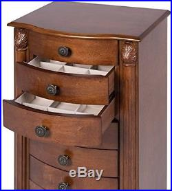 Best Choice Products Armoire Jewelry Cabinet Box Storage Chest Necklace Wood