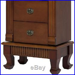 Best Choice Products Wood Jewelry Armoire Cabinet Chest Organizer- Brown