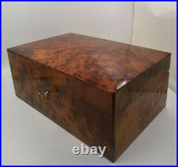 Big Hand-Crafted Wooden Jewelry Box, Large Decorative Box With Two Storage Level