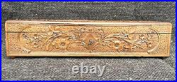 Boxset or Box Jewelry Wooden Carved Pattern Floral/Forest Black