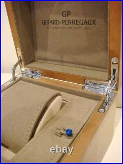 Brand New GIRARD PERREGAUX Wooden Watch Jewellery Box with push button