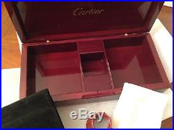 CARTIER Wooden (Mahogany-Lacquered) Jewelry Box 22x10.8x5cm, Collectible item