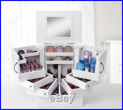 Cabinet Organizer For Cosmetics Deluxe Make Up Storage Box Holder White New